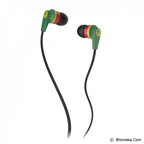 SKULLCANDY Ink'D 2.0 In-Ear [S2IKDZ-058] - Rasta/Red/Green - Earphone Ear Bud